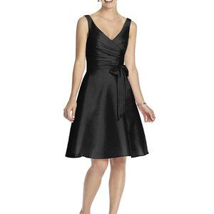Alfred Sung Cocktail Length Wrap Bodice Dress -NWT